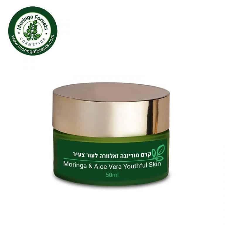 Moringa & Aloe Vera Youthful Skin Face Cream | קרם פנים מורינגה ואלוורה לעור צעיר ובריא